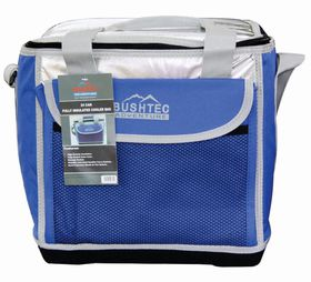 Bushtec - 24 Can Soft Cooler with Solid Foam Base - Blue