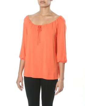 Slick Jackie Gypsy Style Top in Tangerine