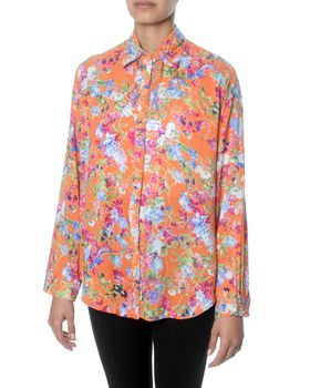Eve Emporium Printed Blouse in Orange