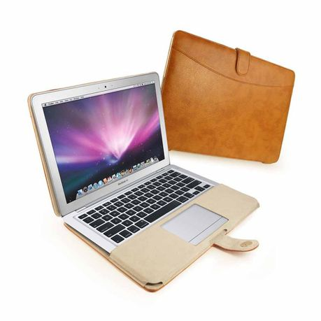 pretty nice 1267c 7f892 Tuff-Luv Faux Leather Case or Cover for MacBook Air 13 inch - Tan or ...