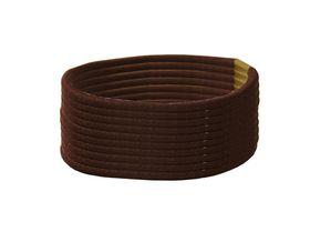 Chic Thin Hair Elastics Band 10 Pack - Brown