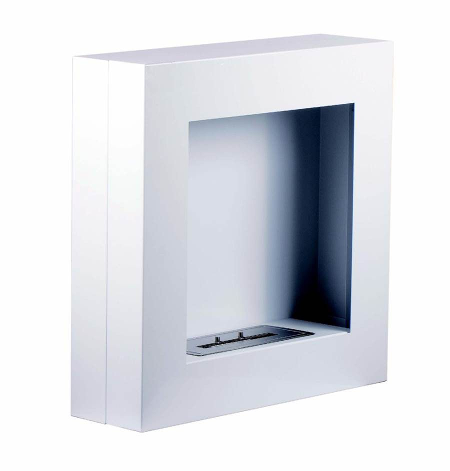 1green wall mounted bio ethanol fireplace white buy online in