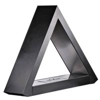 1green Triangular Freestanding Bio-Ethanol Fireplace - Black