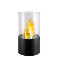 1green Table Styled Ethanol Fireplace - Black