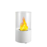 1green Table Styled Ethanol Fireplace - White