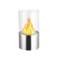1green Table Styled Ethanol Fireplace - Stainless Steel