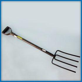 Lasher Tools - 4 Prong Steel Shaft Digging Fork