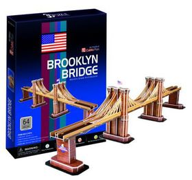 Cubic Fun Brooklyn Bridge USA - 64 Piece 3D Puzzle