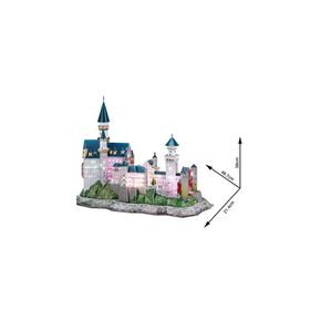 Cubic Fun Neuschwanstein Castle Germany with LED - 128 Piece 3D Puzzle