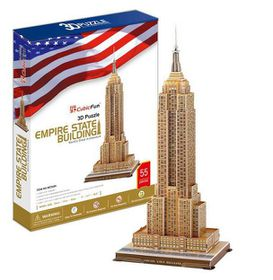 Cubic Fun Empire State Building USA - 56 Piece 3D Puzzle