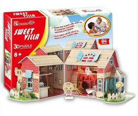 Cubic Fun Sweet Villa With LED - 84 Piece 3D Puzzle