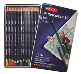 Derwent Watercolour Pencils - Tin of 12