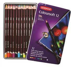 Derwent Coloursoft Pencils - Tin of 12