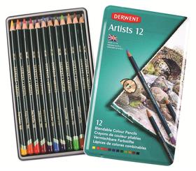 Derwent Artists Pencils - Tin of 12