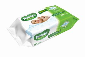 Huggies - Natural Care Single - 64 Baby Wipes