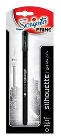"Scripto Prime ""Silhouette"" Gel Pen 0.5mm Black Ink"