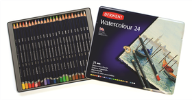 Derwent Watercolour Pencils - Tin of 24