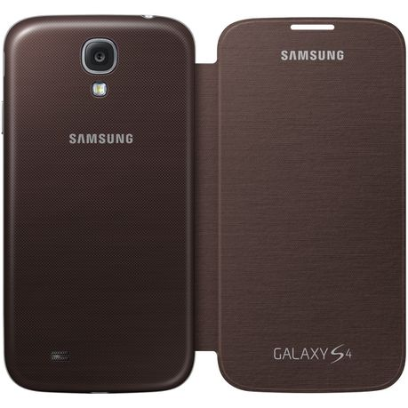 low priced 705ea 6a07f Samsung Galaxy S4 Flip Cover - Brown