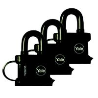 Yale All Weather Padlock 35mm KA Tri Pack