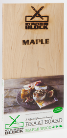 My Butchers Block - 2 Pack Braai Board - Maple