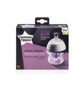 Tommee Tippee - Closer to Nature 150ml Advanced Comfort Bottle - 2 Pack