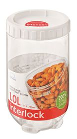 Lock and Lock - Container and Interlock Lid - 1 Litre - White