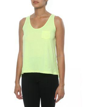 Slick Jessie Sheer Back Vest in Lime