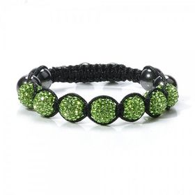 Quirky Crystal Round Bracelet In A Variety Of Colours - Green
