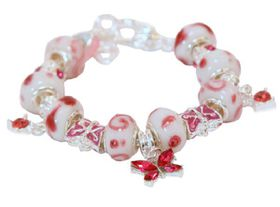Quirky Silvara Beaded Charm Bracelet - Rose Pink