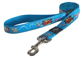 Rogz - Fancy Dress Extra-Large 2.5cm Armed Response Fixed Dog Lead - Comic Design