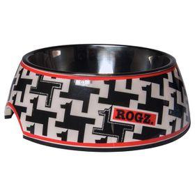 Rogz - 2-in-1 Small 160ml Bubble Dog Bowl - Hound Dog Design