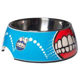 Rogz - 2-in-1 Small 160ml Bubble Dog Bowl - Comic Design