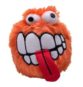 Rogz Grinz Plush Large Dog Squeak Toy Orange - 80mm