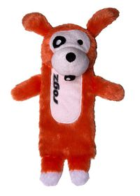Rogz - Thinz Plush Large Dog Toy - Orange - 33cm
