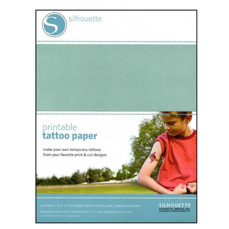 image about Silhouette Printable Tattoo Paper identify Silhouette CAMEO Printable Tattoo Paper