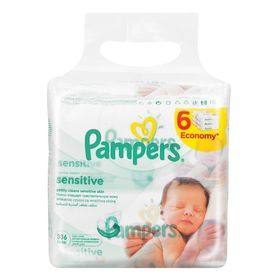 Pampers - Baby Wipes Sensitive 6 x 56 - (336 Wipes)