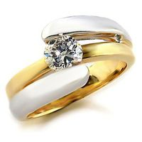Miss Jewels - 0.75ct Cubic Zirconia Two Tone Wedding or Engagement Ring
