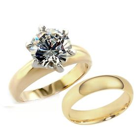 Miss Jewells - 3.50ct Gold Plated Wedding Set