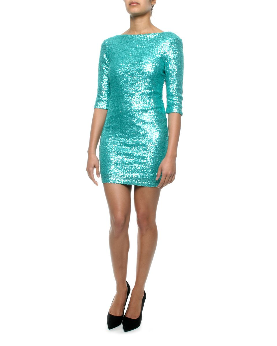 Eve Emporium Mini Sequin Party Dress In Aqua | Buy Online in South ...