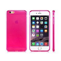 Ultra-Thin Rubber Shell Case Cover For iPhone 6 Plus - Pink