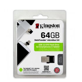 Kingston 64GB USB 3.0 Hi-Speed DataTraveler Micro - Black