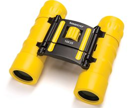 Tasco 10x25 Essentials Roof Binoculars Yellow