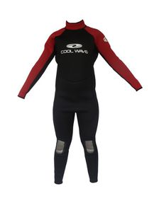 Coolwave Junior Full Wetsuit - Red/Black
