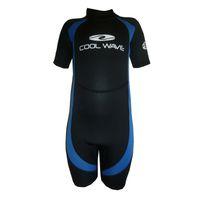 Coolwave Junior Short Wetsuit - Blue And Black