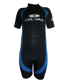Coolwave Junior Short Wetsuit - Blue And Black