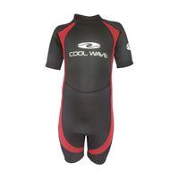 Coolwave Junior Short Wetsuit - Red/Black