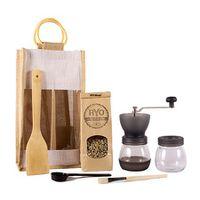 Ryo Coffee Coffee Gift Bag - Black Grinder + 300g unroasted beans