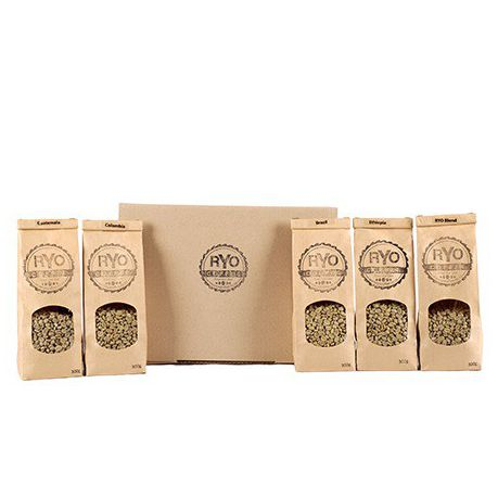 Ryo Coffee 1 5 Kg 5 X 300g Assorted Green Unroasted Coffee Beans