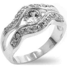 Miss Jewels - 0.65ct Simulated Diamond Engagement Ring in 925 Sterling Silver