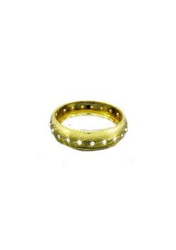 Miss Jewels - Gold Tone Bangle with Crystals